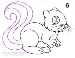 How To Draw a Squirrel Step 6