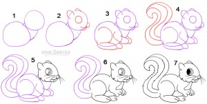 How To Draw a Squirrel Step by Step