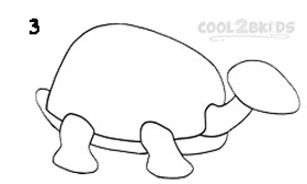 How To Draw a Turtle Step 3