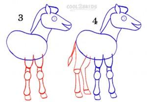 How To Draw a Zebra Step 2