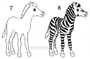 How To Draw a Zebra Step 4