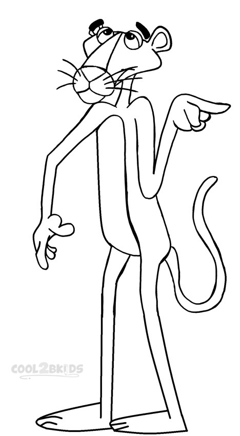 the pink panther coloring pages - photo#9