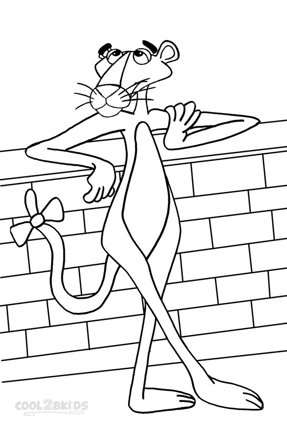 Printable Pink Panther Coloring Pages For Kids