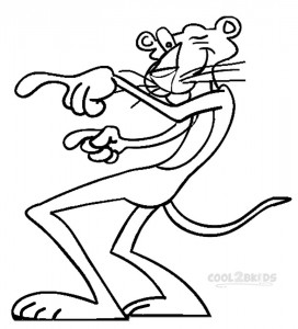 Printable Pink Panther Coloring Pages