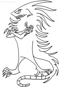 Coloring Pages of Iguana
