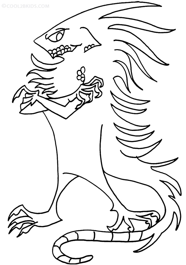 Printable Iguana Coloring Pages