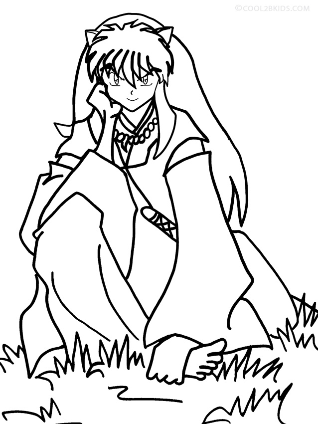 - Printable Inuyasha Coloring Pages For Kids