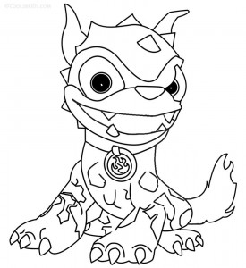 Coloring Pages of Skylander Giants