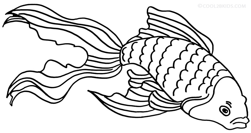Printable Goldfish Coloring Pages For Kids Cool2bkids Goldfish Coloring Pages