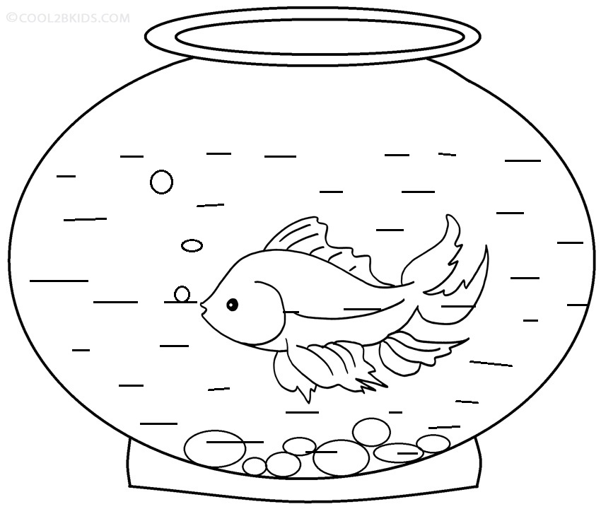 free printable goldfish coloring pages - photo#1