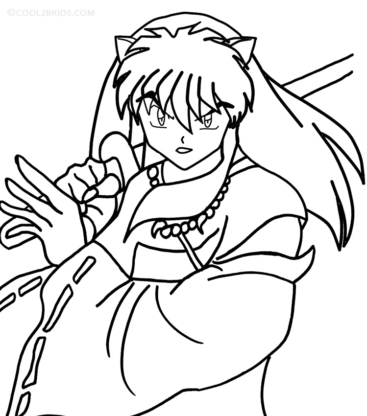 online coloring pages inuyasha - photo#1