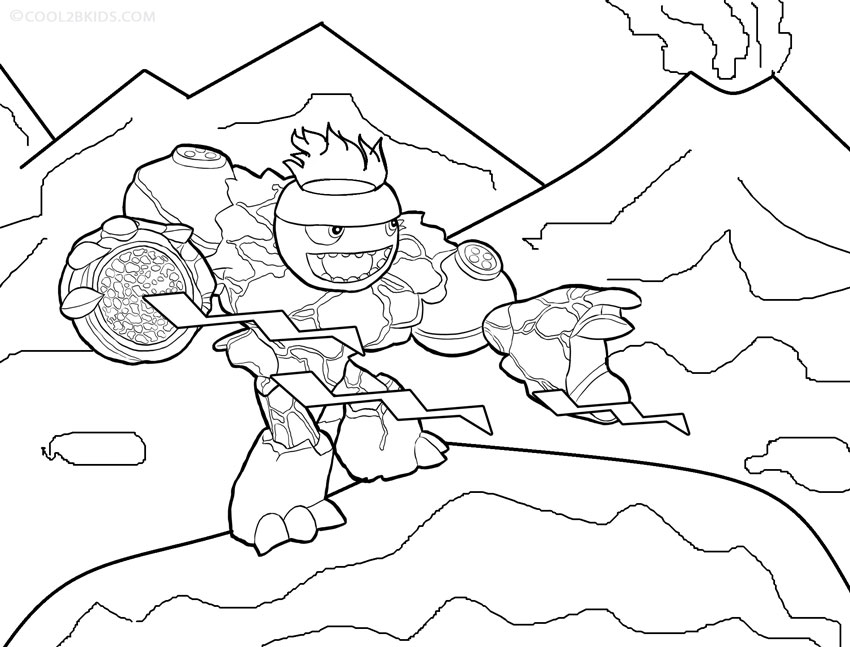 Pop Fizz Skylander Gianta0 - Free Colouring Pages | 647x850