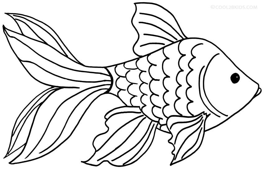 free printable goldfish coloring pages - photo#12