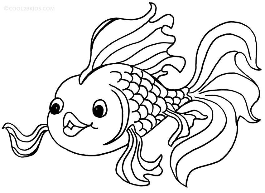 Printable Goldfish Coloring Pages For Kids Cool2bKids