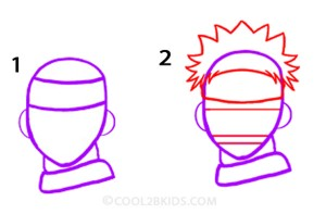 How To Draw Naruto Step 1