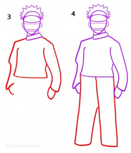 How To Draw Naruto Step 2