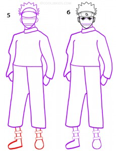 How To Draw Naruto Step 3
