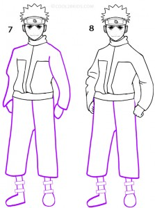 How To Draw Naruto Step 4