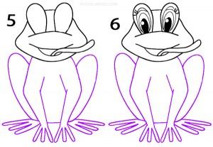 How To Draw a Frog Step 3