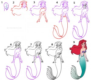 How To Draw a Mermaid Step by Step