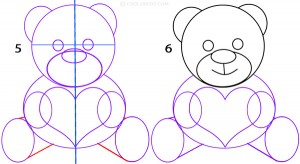 How To Draw a Teddy Bear Step 3