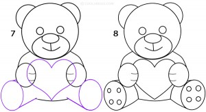 How To Draw a Teddy Bear Step 4