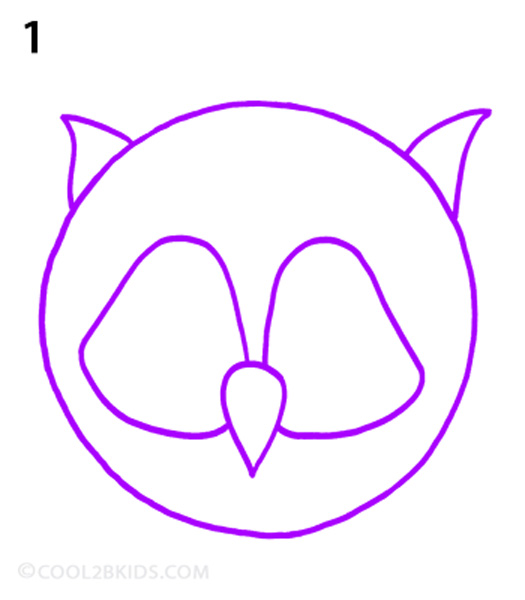How to draw an owl step by step pictures cool2bkids for Owl beak drawing