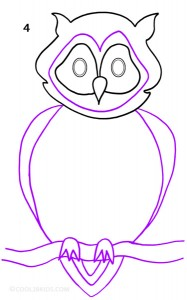 How To Draw an Owl Step 4