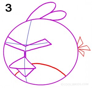 How to Draw Angry Birds Step 3