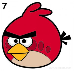 How to Draw Angry Birds Step 7