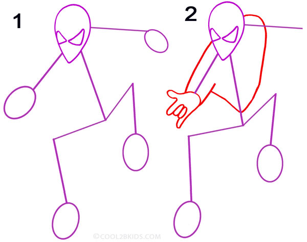 How To Draw Spider Man Step By Step Pictures Cool2bkids