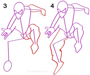 How to Draw Spider Man Step 2