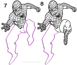 How to Draw Spider Man Step 4
