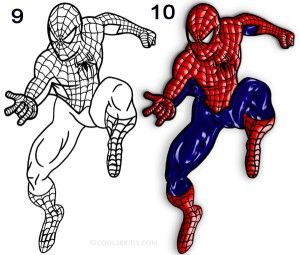 How to Draw Spider Man Step 5