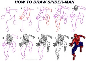 How to Draw Spider Man Step by Step