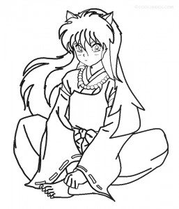 Inuyasha Coloring Pages For Kids Picture