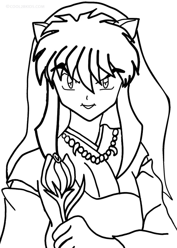 Printable Inuyasha Coloring Pages For Kids  Cool2bKids