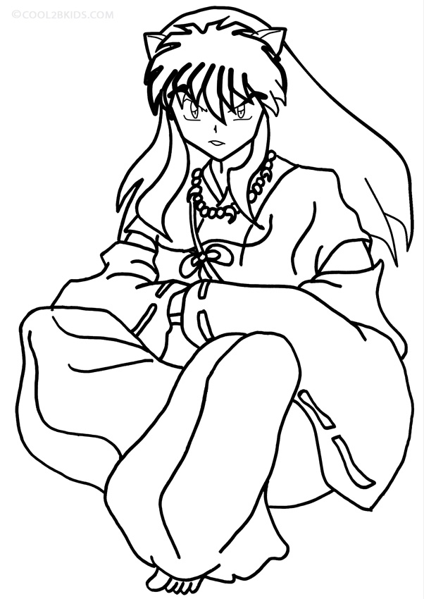 Free Printable Inuyasha Coloring Pages For Kids | Cartoon coloring ... | 850x602