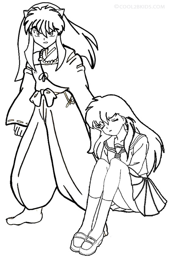 Free Printable Inuyasha Coloring Pages For Kids | Cartoon coloring ... | 850x560