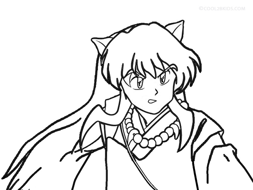 Picture Of Printable Inuyasha Coloring Pages