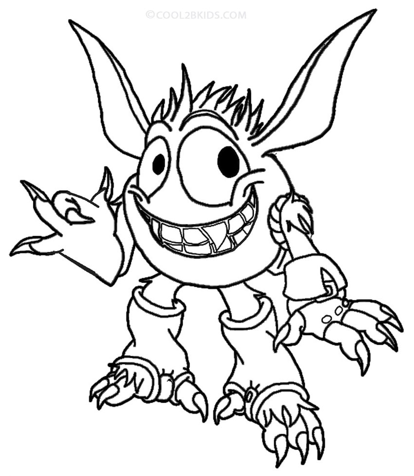 printable skylander giants coloring pages - Skylander Coloring Pages Print