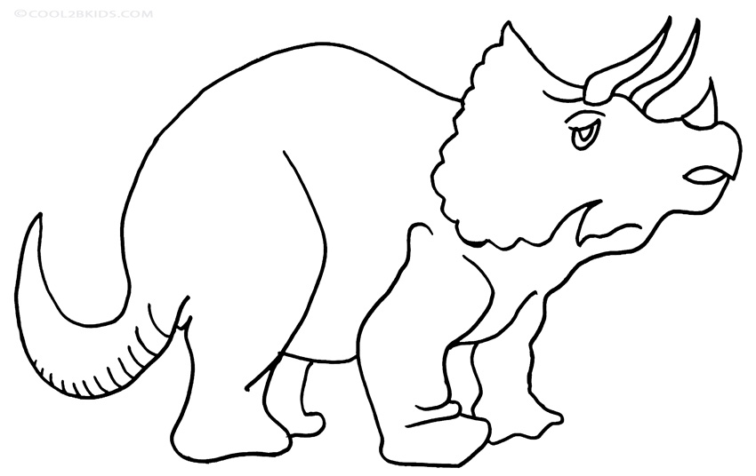 Printable Triceratops Coloring Pages For Kids Cool2bKids