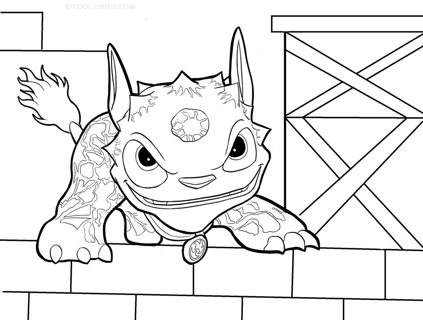 Printable Skylander Giants Coloring