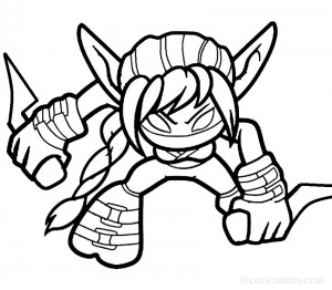 Skylander Giants Coloring Page