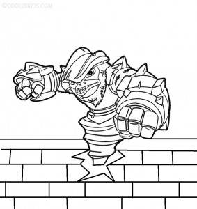 Skylander Giants Coloring Pages For Kids