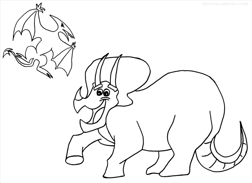 Printable Triceratops Coloring