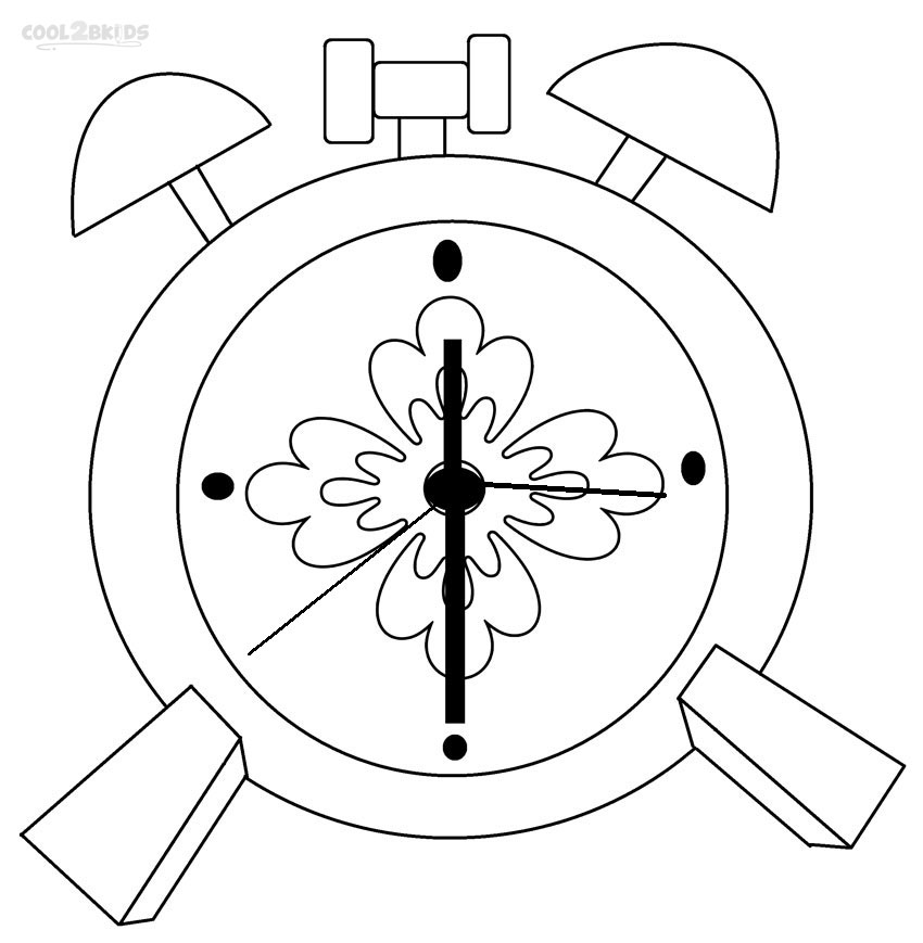 Coloring pages clock ~ Printable Clock Coloring Pages For Kids | Cool2bKids