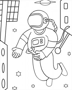 Astronaut Color Pages