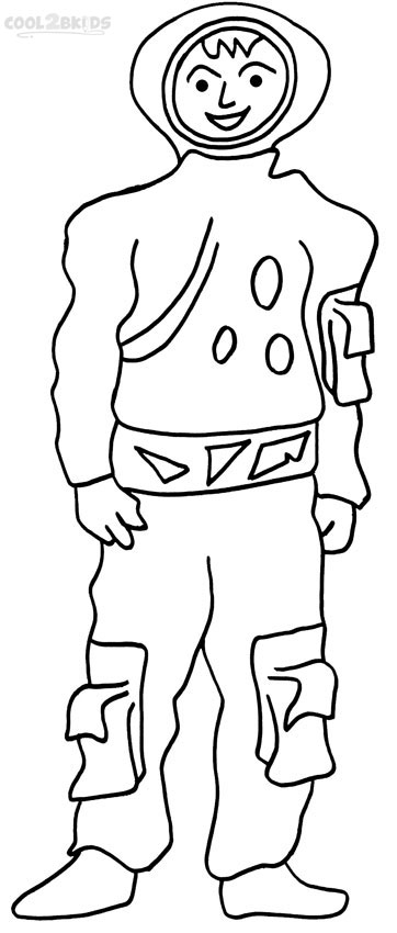 astronaut coloring page printable - Astronaut Coloring Pages Printable
