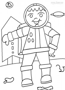 Astronaut Coloring Pages For Kids